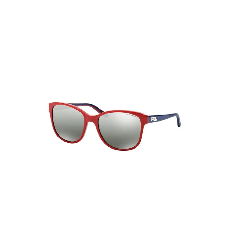lunette de soleil ralph lauren femme 0rl8123 53107g monture rouge verres vert argent miroir d grad. Black Bedroom Furniture Sets. Home Design Ideas
