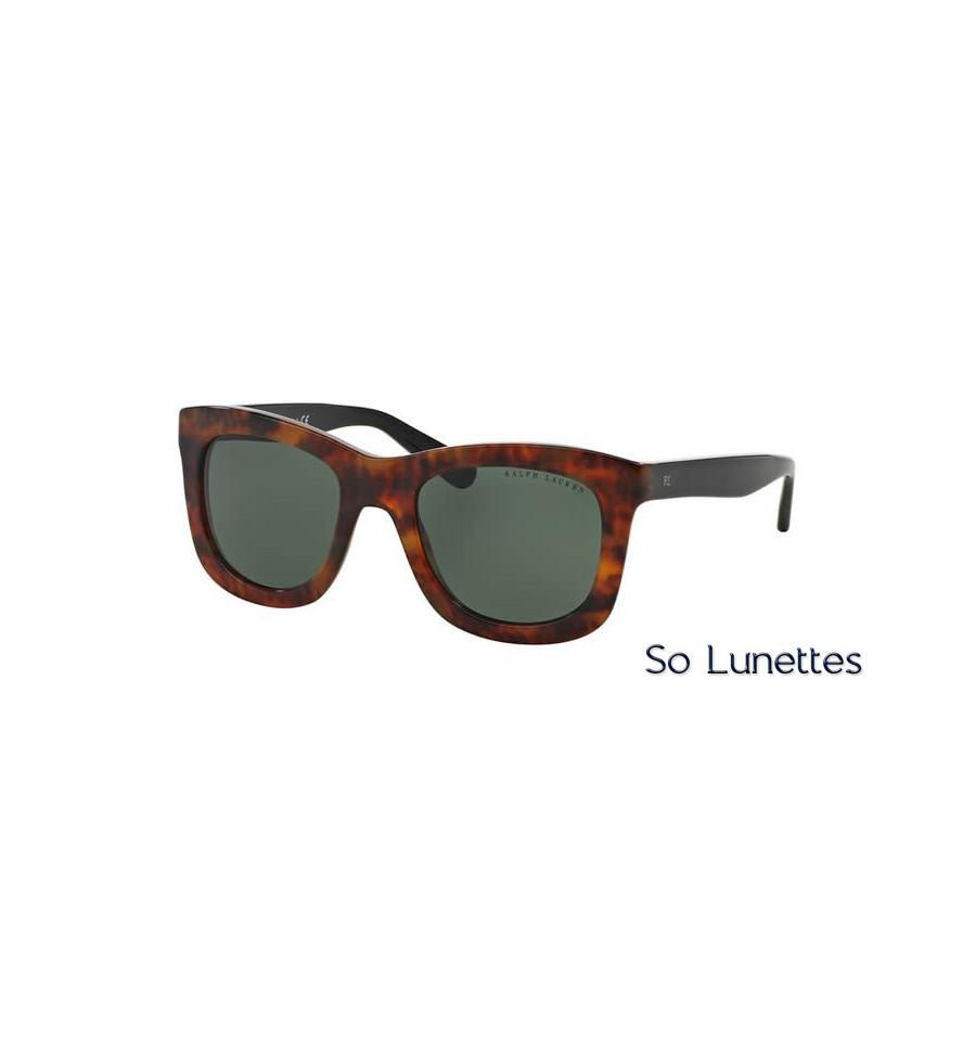 lunette de soleil ralph lauren femme 0rl8137 555171 monture ecaille verres vert. Black Bedroom Furniture Sets. Home Design Ideas