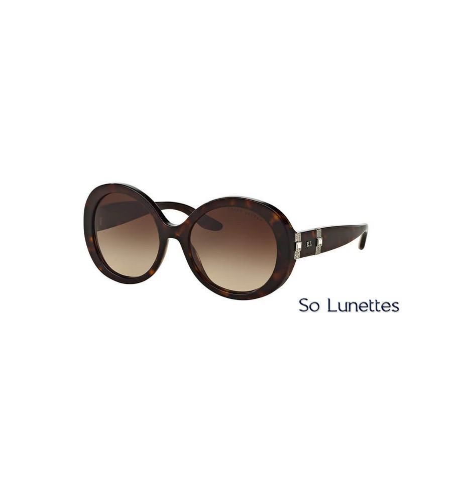 lunette de soleil ralph lauren femme 0rl8145b 500313 monture marron verres marron d grad. Black Bedroom Furniture Sets. Home Design Ideas