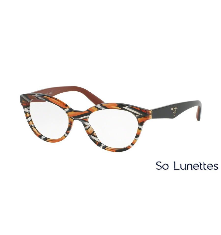 lunettes de vue prada femme pr 11rv van1o1 orange. Black Bedroom Furniture Sets. Home Design Ideas