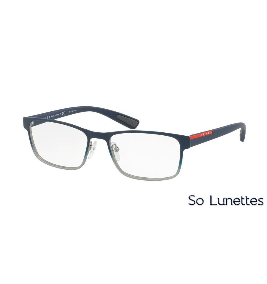 5d2f152942857d Lunettes de vue Prada Linea Rossa homme PS 50GV U6T1O1 monture bleu