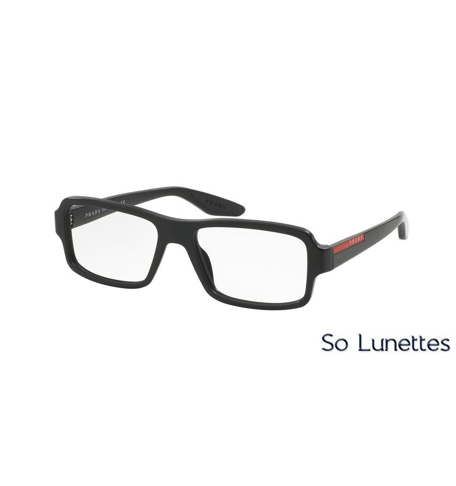 2dc62b62cd3643 Lunettes de vue Prada Linea Rossa homme PS 01GV 1AB1O1 monture noir