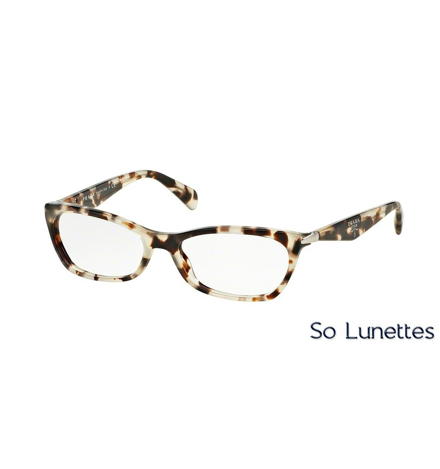 lunettes de vue prada femme pr 15pv uao1o1 monture marron. Black Bedroom Furniture Sets. Home Design Ideas