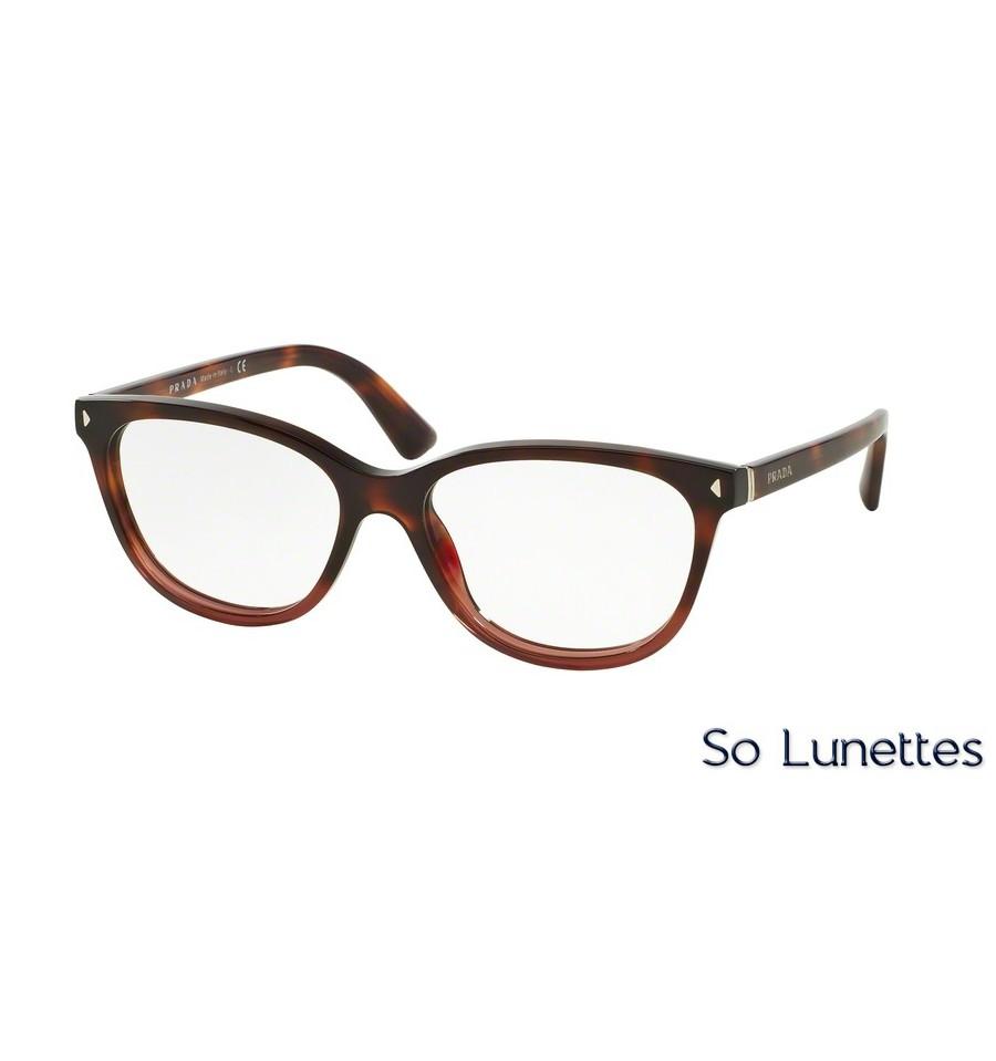 lunettes de vue prada femme pr 14rv twc1o1 monture rouge. Black Bedroom Furniture Sets. Home Design Ideas