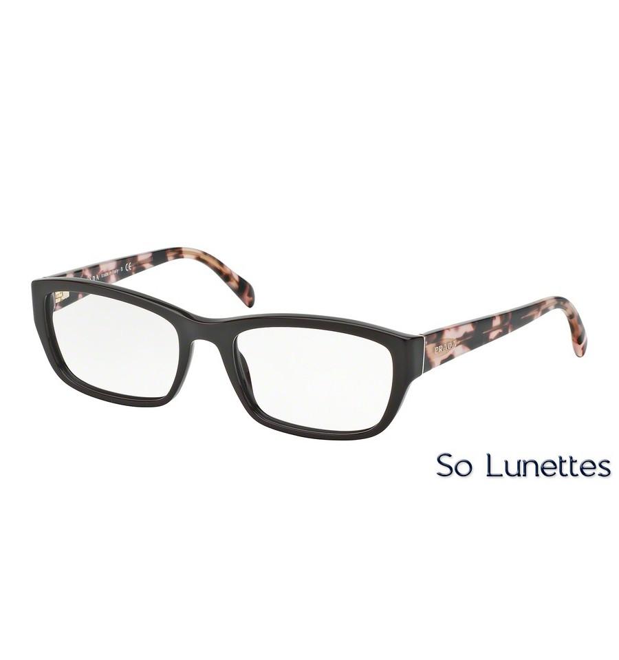 lunettes de vue prada femme pr 18ov dho1o1 monture marron. Black Bedroom Furniture Sets. Home Design Ideas