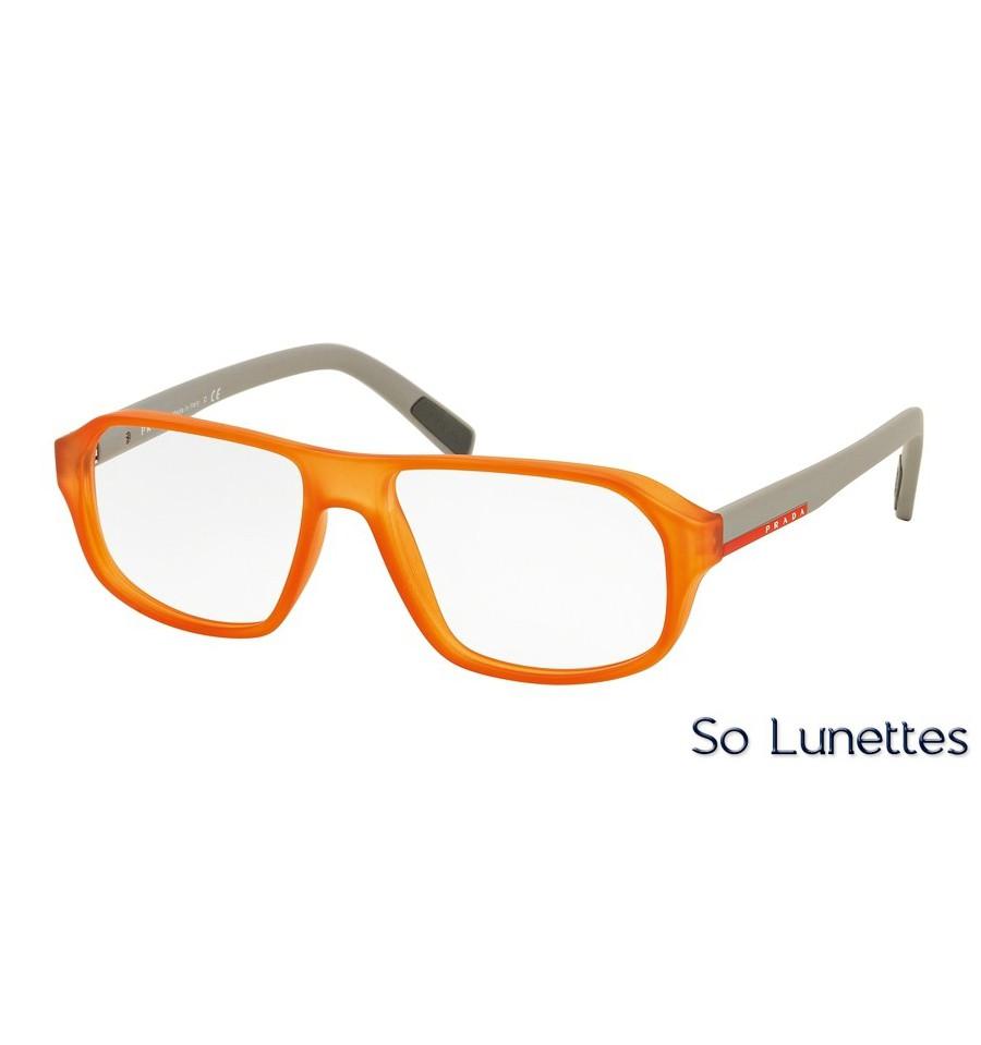 8059ac6ef735a1 Lunettes de vue Prada Linea Rossa homme PS 05GV UFL1O1 monture orange