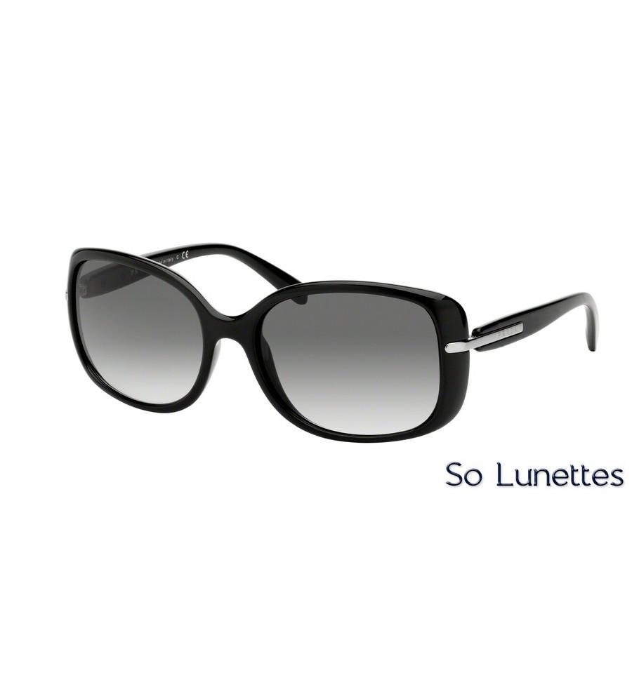 Lunettes de soleil Prada femme PR 08OS 1AB0A7 monture noir verre gris 93ae518a836