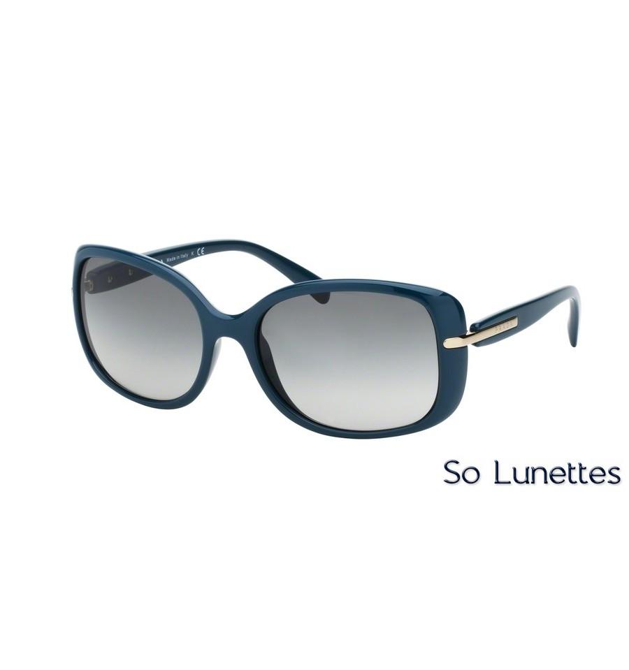 lunettes de soleil prada femme pr 08os sl53m1 monture bleu. Black Bedroom Furniture Sets. Home Design Ideas