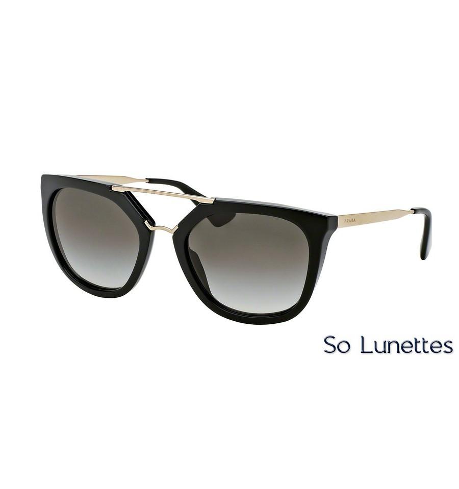 Lunettes de soleil Prada femme PR 13QS 1AB0A7 monture noir verre ... b476e64a44f4
