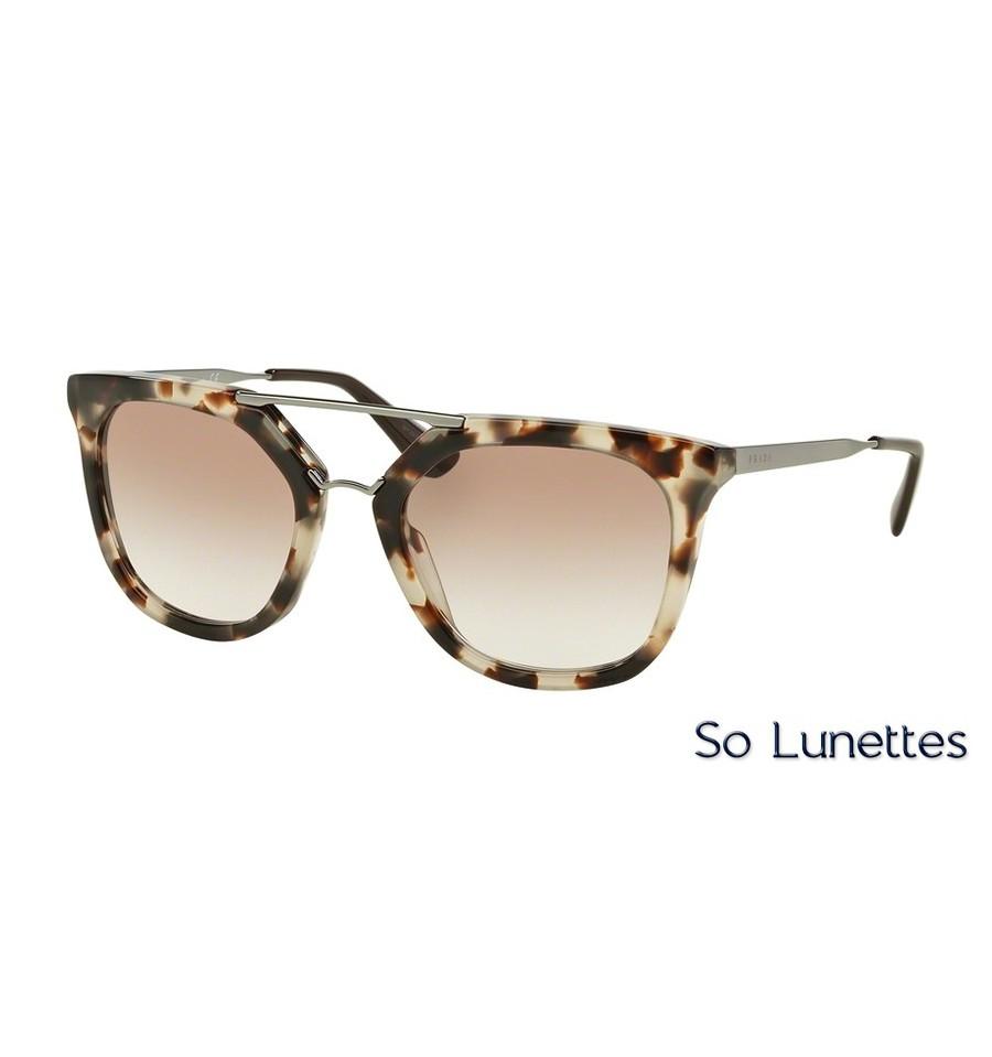 15906f5796391 Lunettes de soleil Prada femme PR 13QS UAO1L0 monture écaille verre ...