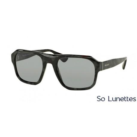 Lunettes de soleil Prada homme PR 02SS UEM3C2 monture gris verre gris 857dc459a480