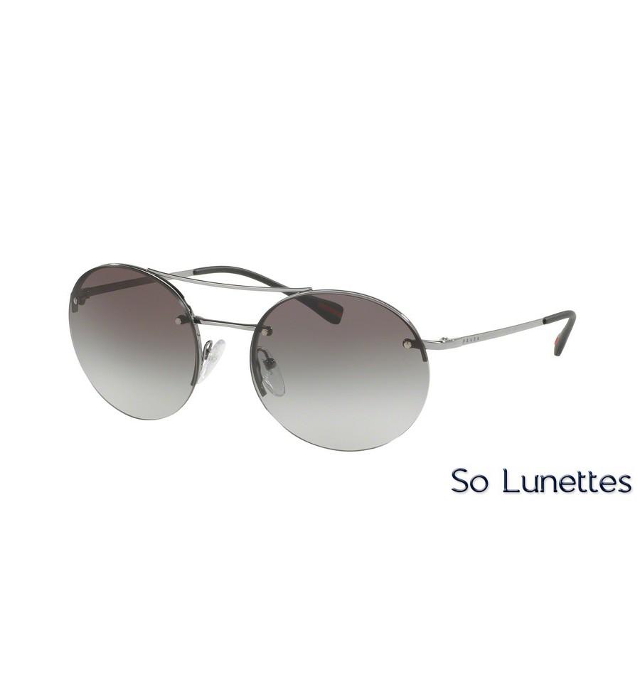 3b08d099653 Lunettes de soleil Prada Linea Rossa PS 54RS 1BC0A7 monture argent ...