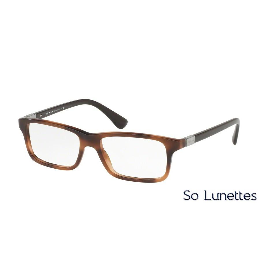 8381959a87f61d Lunettes de vue Prada homme PR 06SV U6J1O1 monture marron