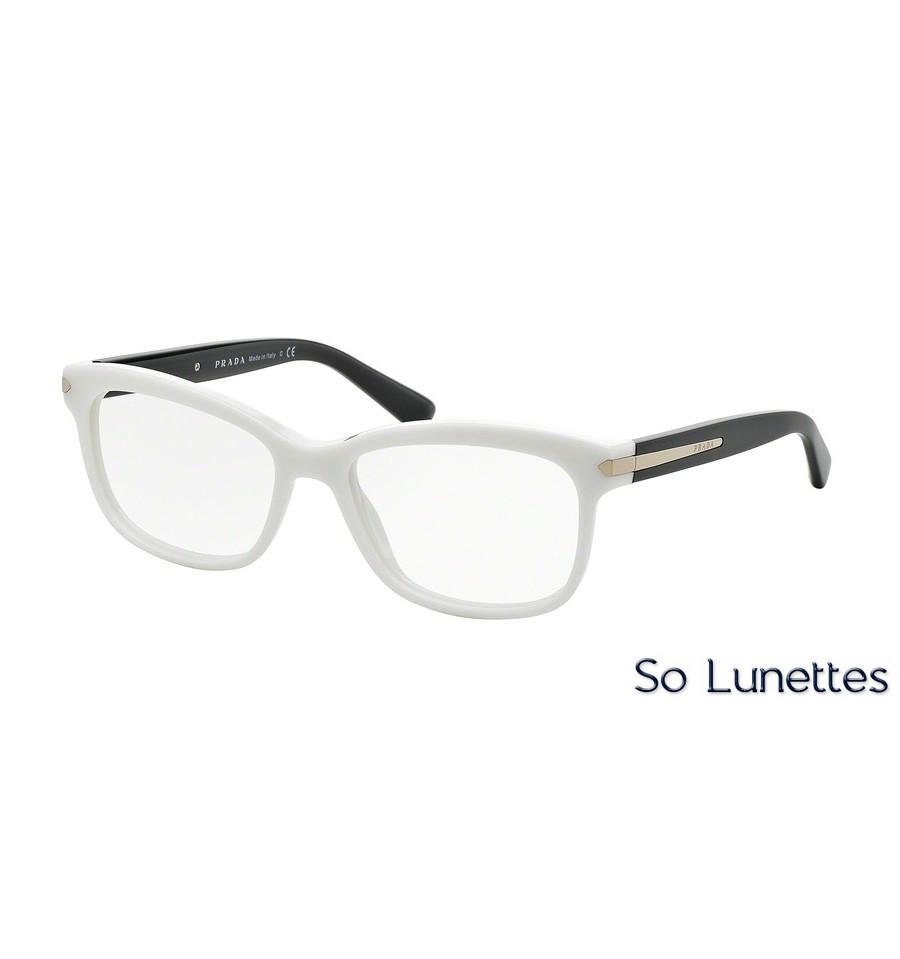 Lunettes de vue Prada femme PR 10RV 7S31O1 monture blanc 05721177afe2