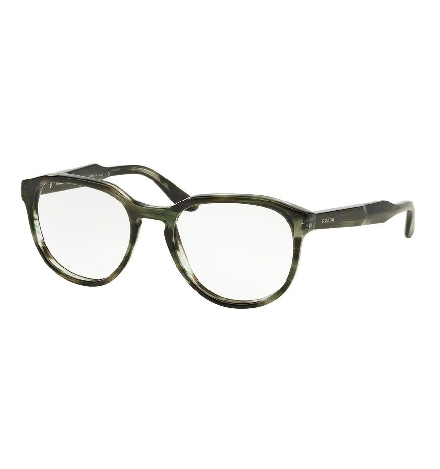lunettes de vue prada homme pr 18sv uep1o1 monture vert. Black Bedroom Furniture Sets. Home Design Ideas