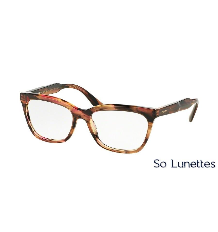 Lunettes de vue Prada femme PR 24SV UEO1O1 monture marron 6900c7c85802