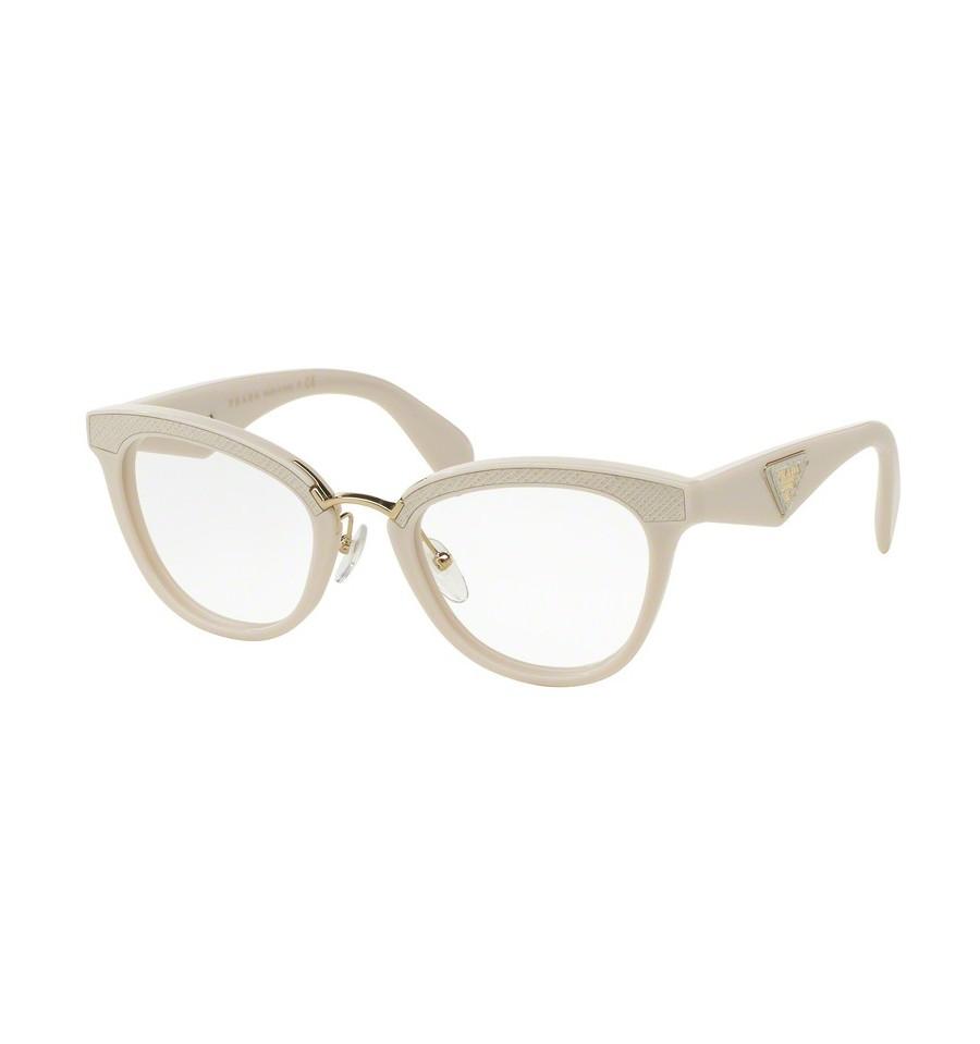 lunettes de vue prada femme pr 26sv ufp1o1 monture blanc. Black Bedroom Furniture Sets. Home Design Ideas
