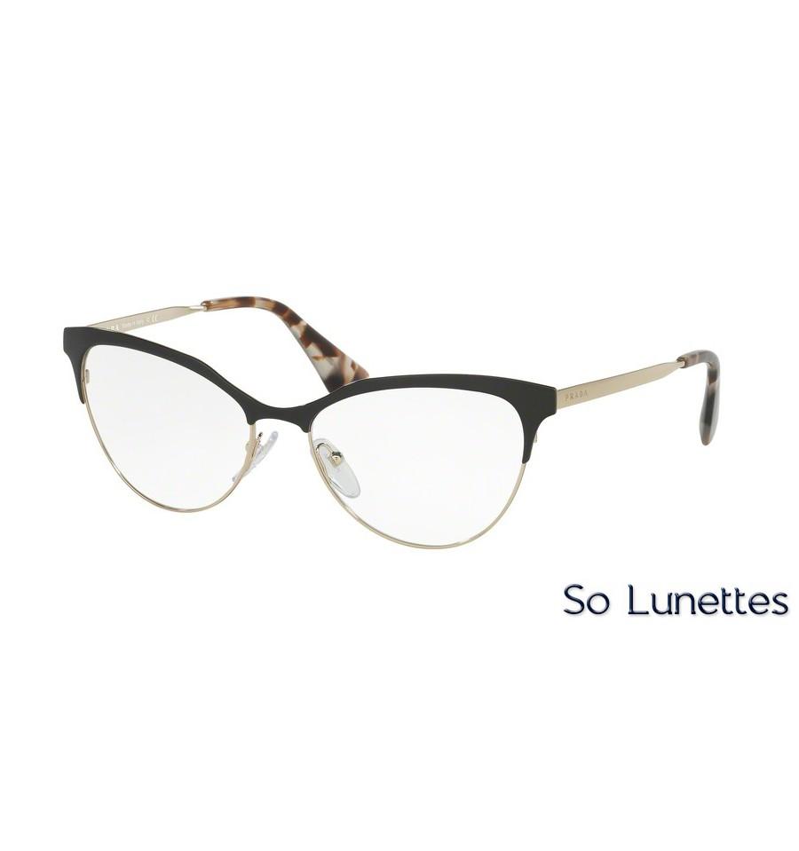 Lunettes de vue Prada femme PR 55SV QE31O1 monture noir a10f2eec43c0