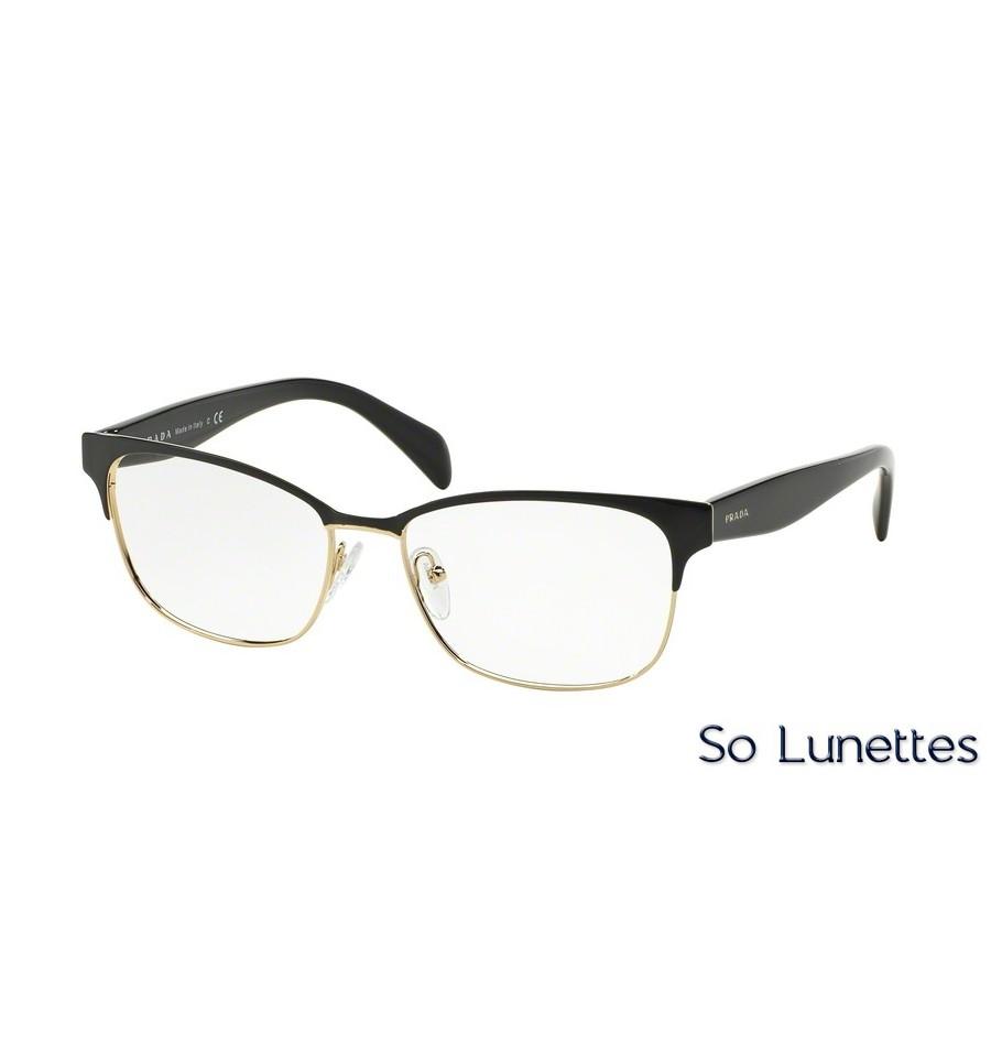 f5ec76305fafc Lunettes de vue Prada femme PR 65RV QE31O1 monture noir