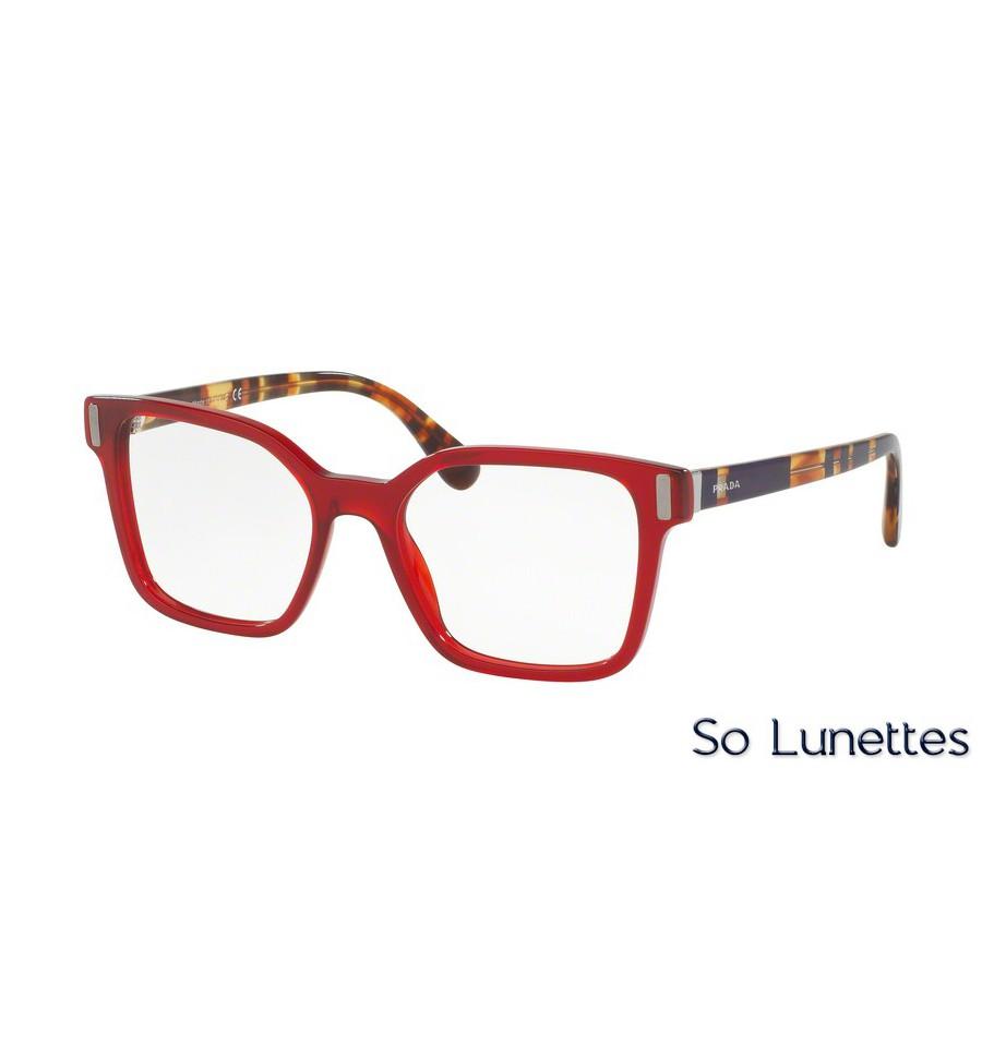 lunettes de vue prada femme pr 05tv acb1o1 monture rouge. Black Bedroom Furniture Sets. Home Design Ideas