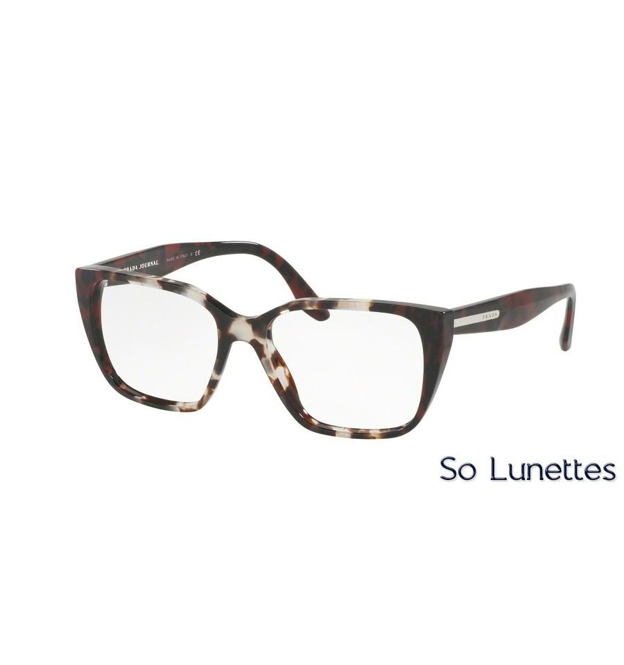 lunettes de vue prada femme pr 08tv u6k1o1 monture marron. Black Bedroom Furniture Sets. Home Design Ideas