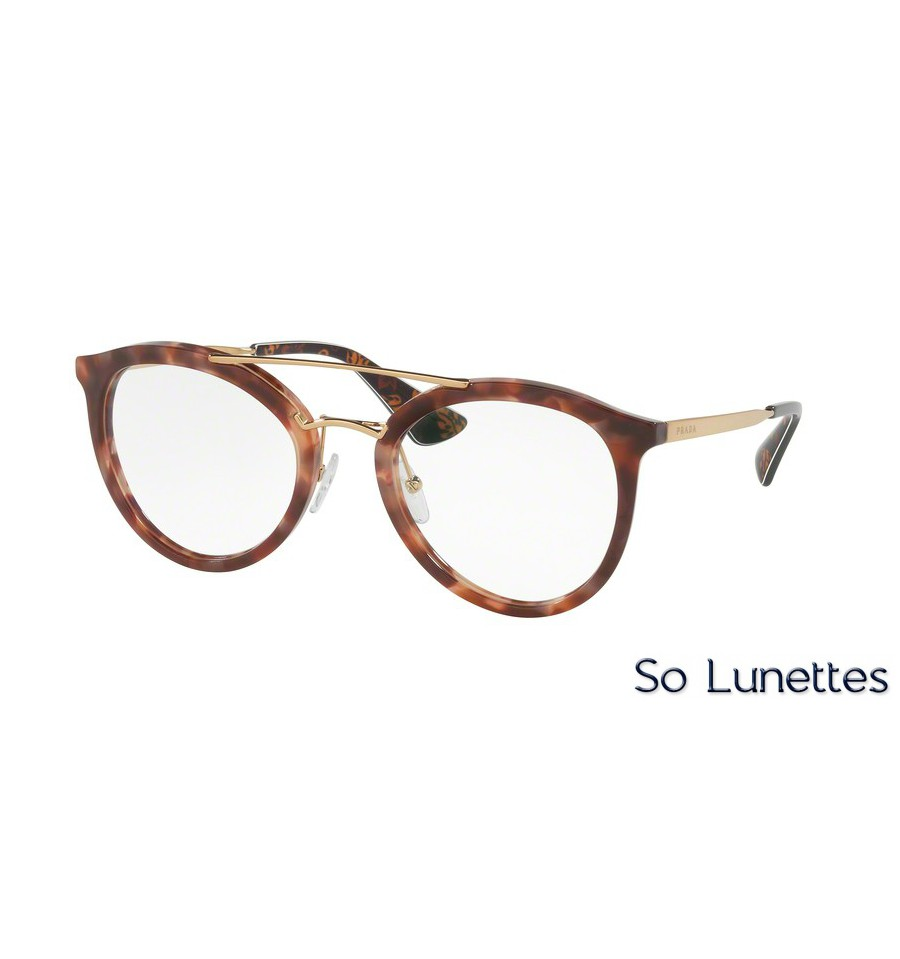 lunettes de vue prada femme pr 15tv ue01o1 monture rose. Black Bedroom Furniture Sets. Home Design Ideas
