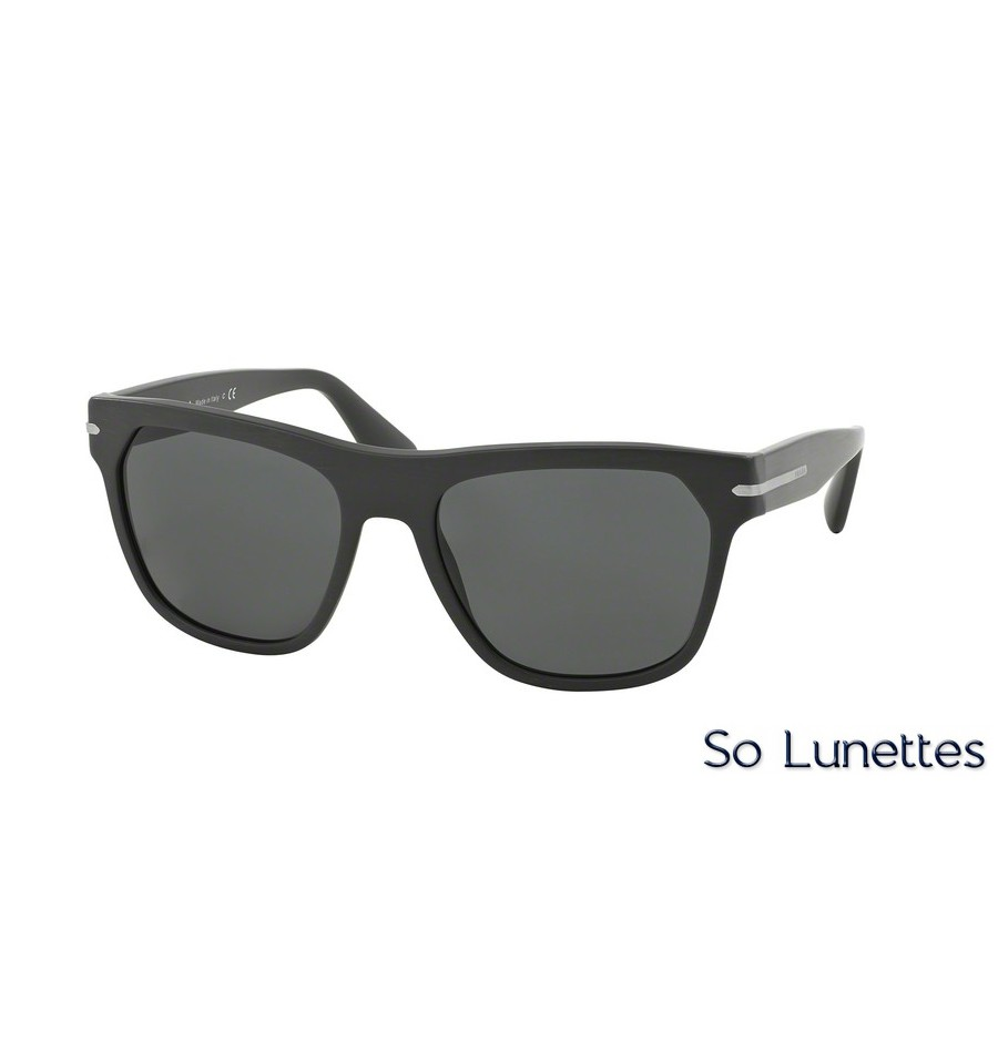 9f229c26f4 Lunettes de soleil Prada homme PR 03RS TV41A1 monture noir mat verre ...