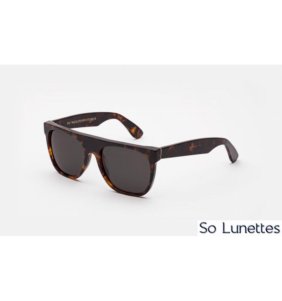 46cf34bf9358c Retrosuperfuture Flat Top Classic Havana - So-Lunettes