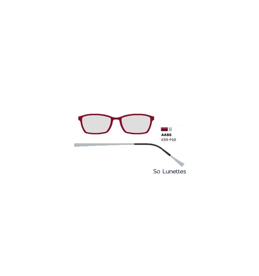 Lindberg 1126-AA86-T01 Red frame   Chrome temples - So-Lunettes 1969813a7c87