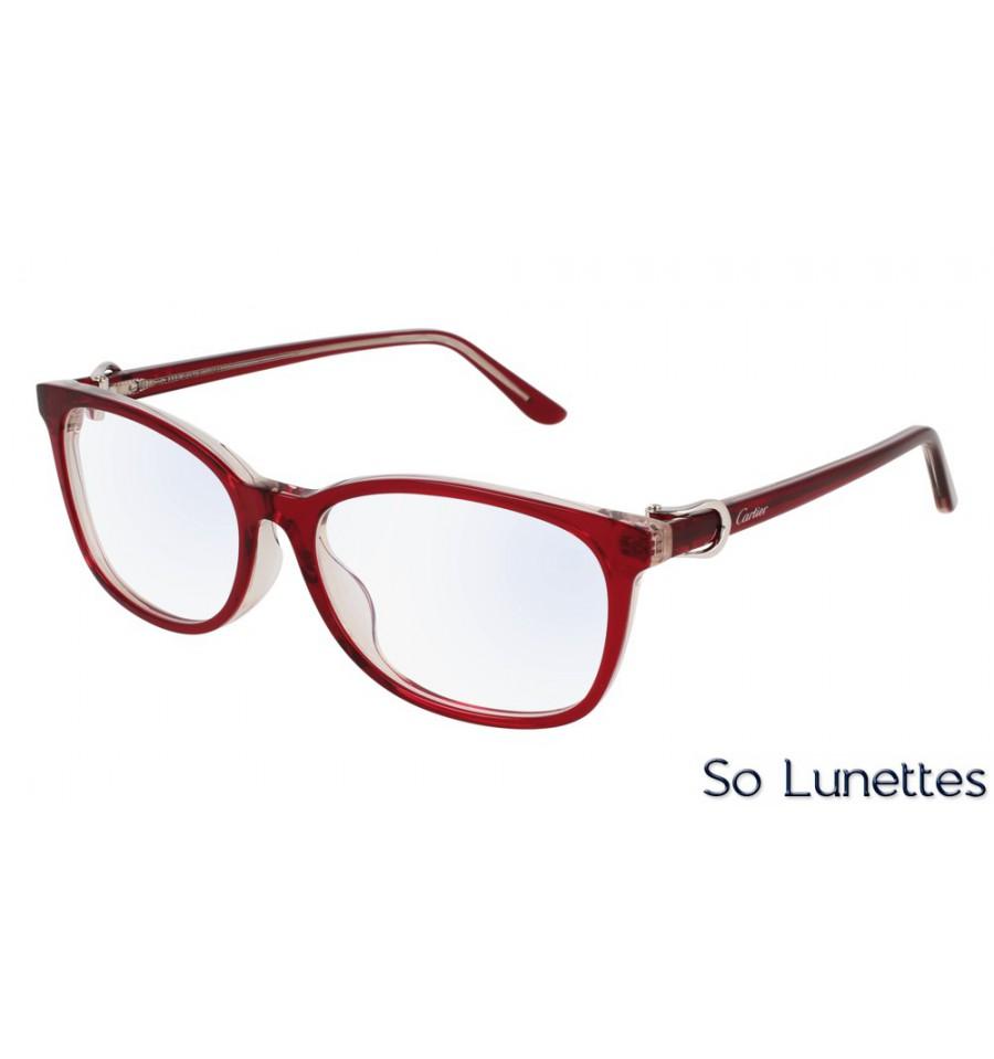76a2f60877 Cartier CT0008OA 004 Rouge - So-Lunettes