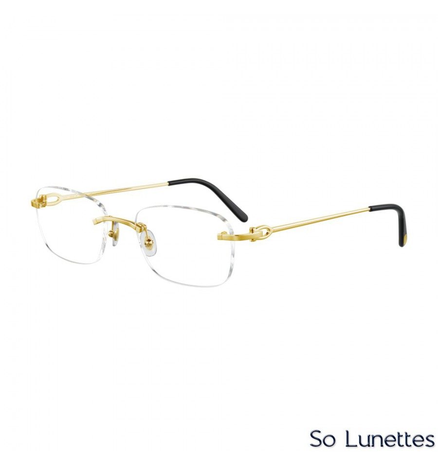 Cartier CT0050O 001 Or - So-Lunettes 8d04b29197eb