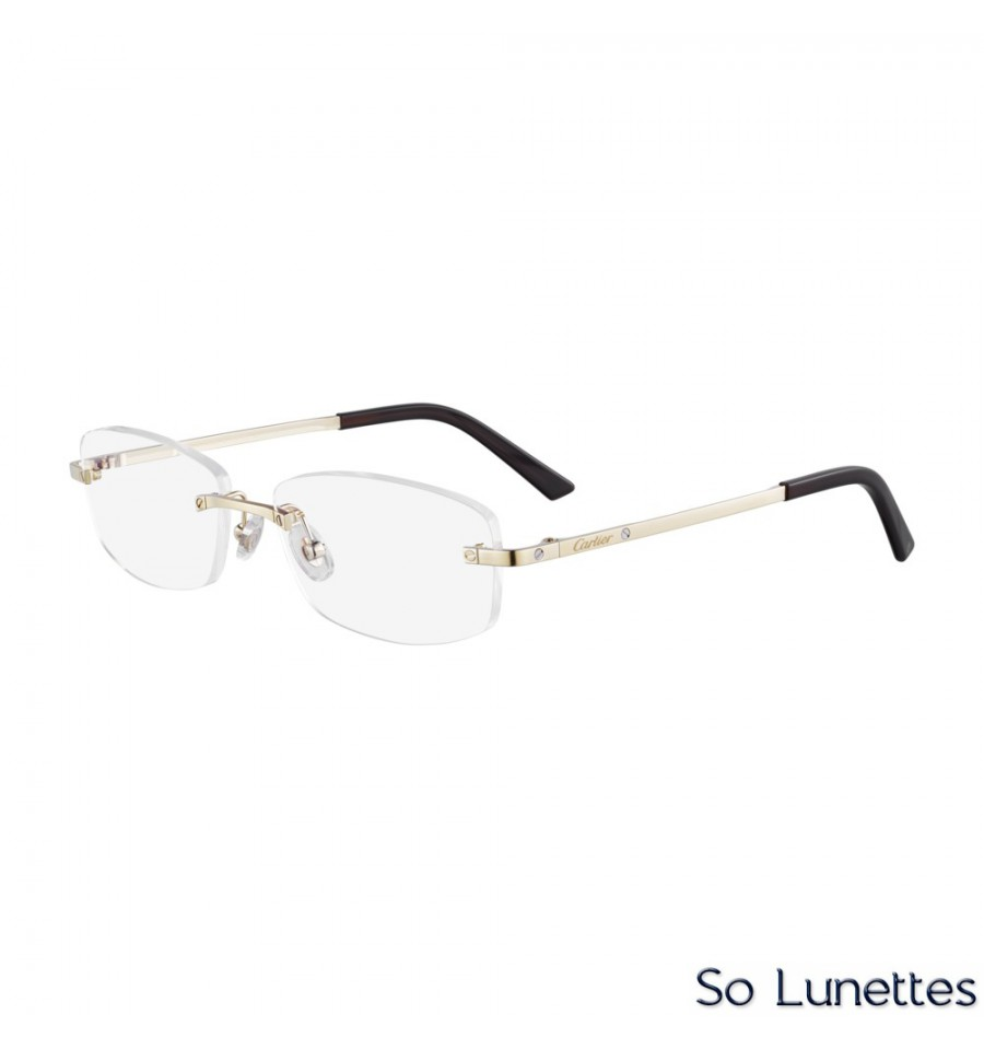 9c631a81850 Cartier CT0086O 001 Or - So-Lunettes