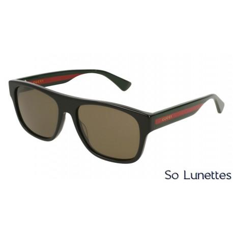 Gucci GG0341S 002 Noir verres polarisés - So-Lunettes 81ebdb021529
