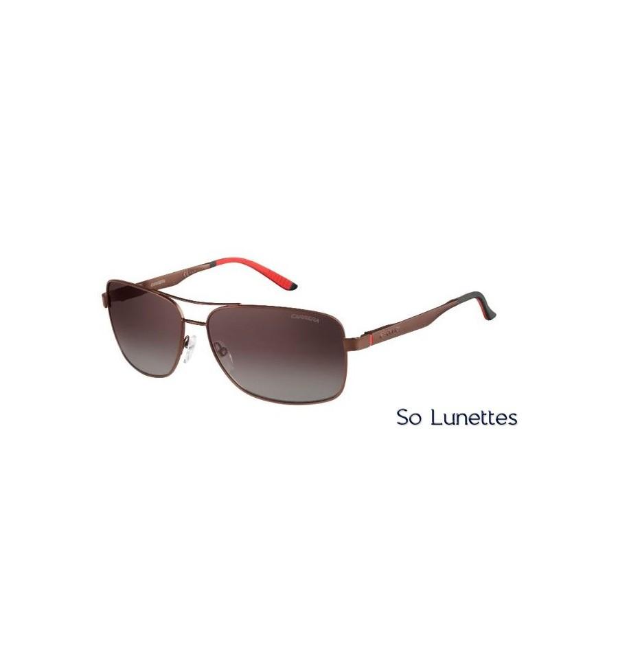 Lunettes de soleil CARRERA homme 8014 S NLX(LA) monture métal marron ... d85f0a3eb13e