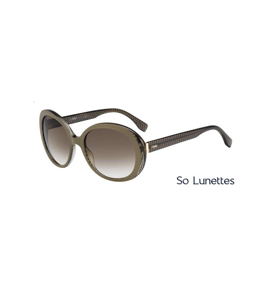 cfd42a0865c Lunettes de soleil Fendi Femme FF 0001 S 7PE (DB) monture marron ...