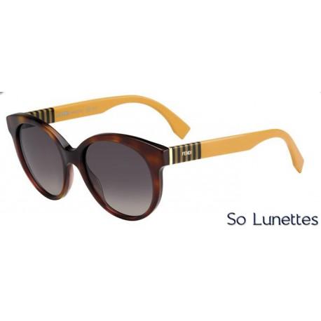 Lunettes de soleil Fendi Femme FF 0013/S 7TA (R4) ocre havane