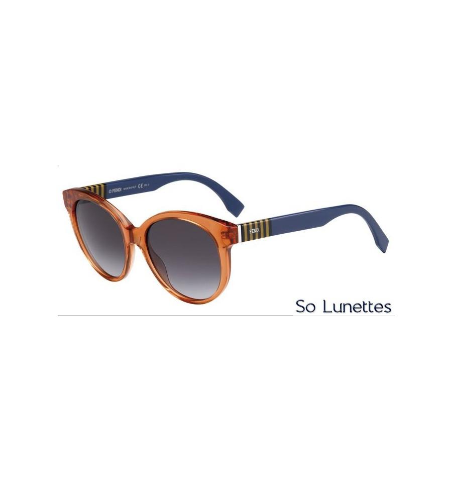 lunettes de soleil fendi femme ff 0013 s 7tc 9o monture bleue orange verres gris fonc s d grad s. Black Bedroom Furniture Sets. Home Design Ideas