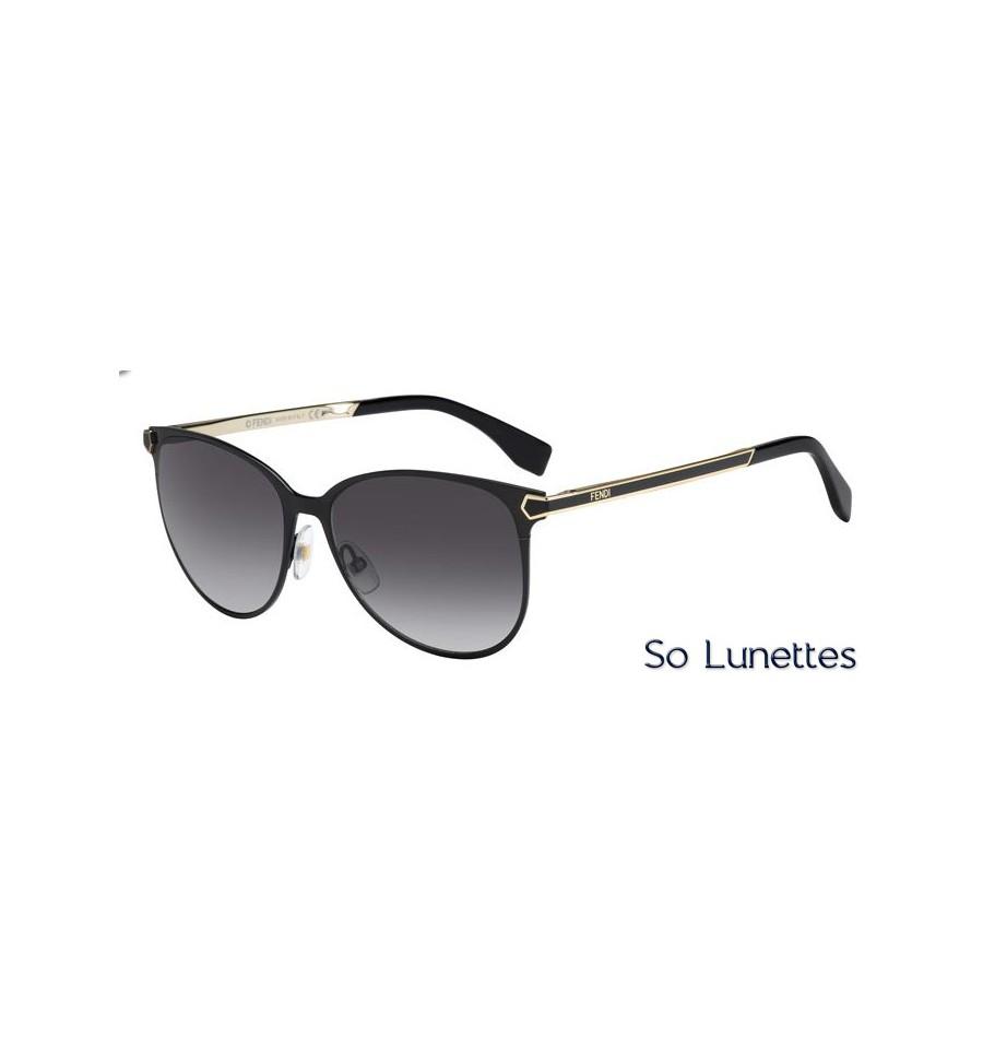 11fc91d7207 Lunettes de soleil Fendi Femme FF 0022 S 7WH (9O) monture noire et ...