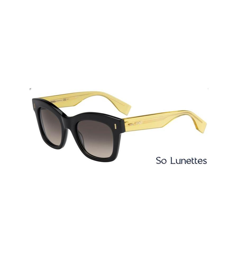 6141b85cd849bd Lunettes de soleil Fendi Femme FF 0025 S 7OA (ED) monture jaune et ...