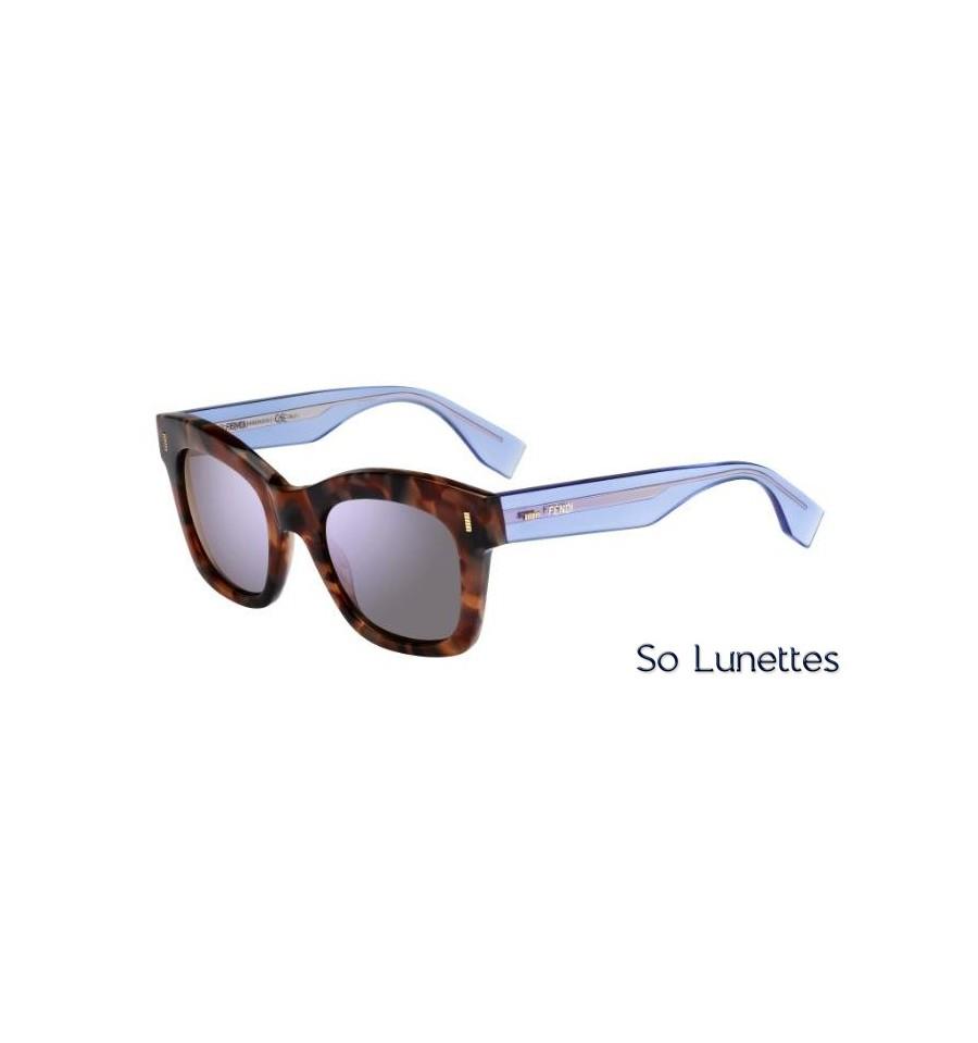 e54108259addc6 Lunettes de soleil Fendi Femme FF 0025 S 7OK (IH) monture lilas et ...