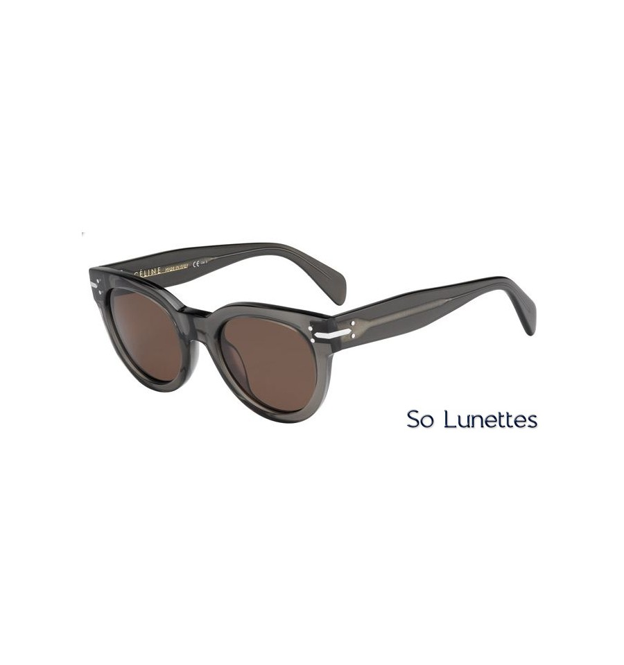 lunettes de soleil c line cl 41040 s i73 a6 monture olive transparente verres marron. Black Bedroom Furniture Sets. Home Design Ideas