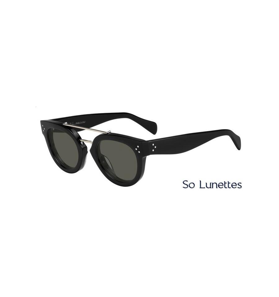 528b3a17c0 Lunettes de soleil Céline CL 41043/S 807 (1E) monture noire verres verts