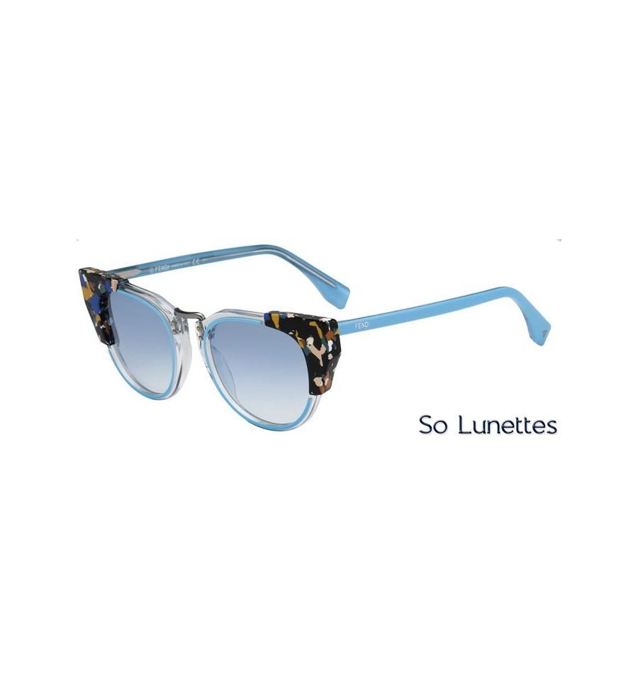 lunettes de soleil fendi femme ff 0074 s rcj st monture azur transparente tachet e multicolore. Black Bedroom Furniture Sets. Home Design Ideas