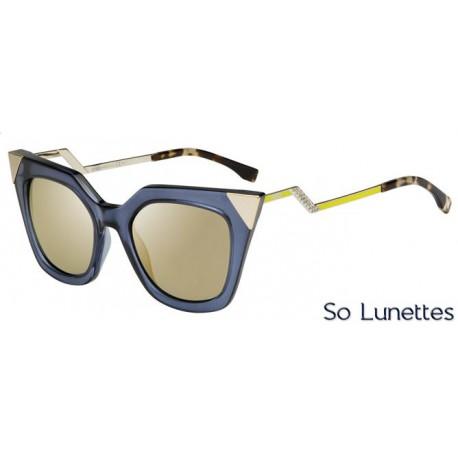 Lunettes de soleil Fendi Femme FF 0060 S MSU (MV) bleues grises dorées cfdb09a5e000