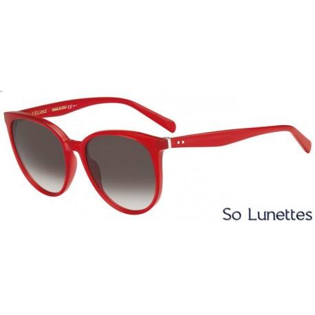 lunettes de soleil c line femme cl 41068 s 11v z3 monture rouge verres marron d grad s. Black Bedroom Furniture Sets. Home Design Ideas