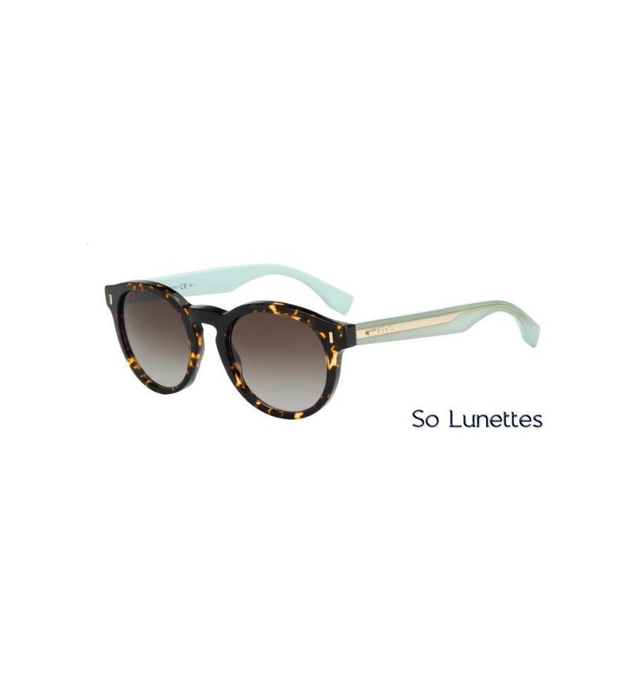 Lunettes de soleil Fendi Femme FF 0085 S HK4 (IF) monture havane et ... 1806a0774fe