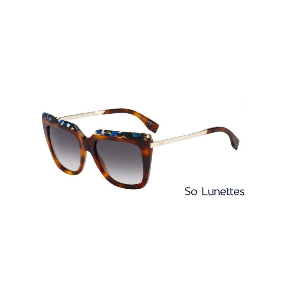 79b9f106fb53b9 Lunettes de soleil Fendi Femme FF 0087 S CUA (9C) monture havane ...