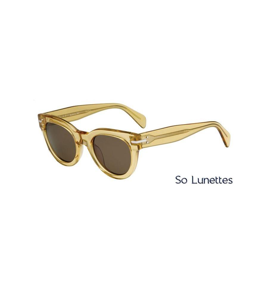 lunettes de soleil c line femme cl 41040 s 521 a6 monture ocre transparente verres marron. Black Bedroom Furniture Sets. Home Design Ideas
