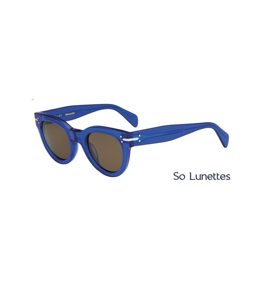 lunettes de soleil c line femme cl 41040 s j9m a6 monture bleue transparente verres marron. Black Bedroom Furniture Sets. Home Design Ideas