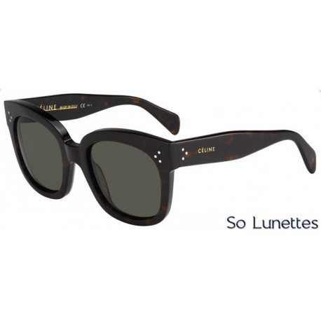 bac9346976e Lunettes de soleil CELINE Femme CL 41805 S 086 (1E) monture havane ...